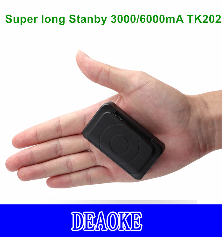 DEAOKE Mini gps tracker 4400/6400mA TK202 Super long Stanby gps tracker with Strong Magnetic with APP/Platform Featured Image