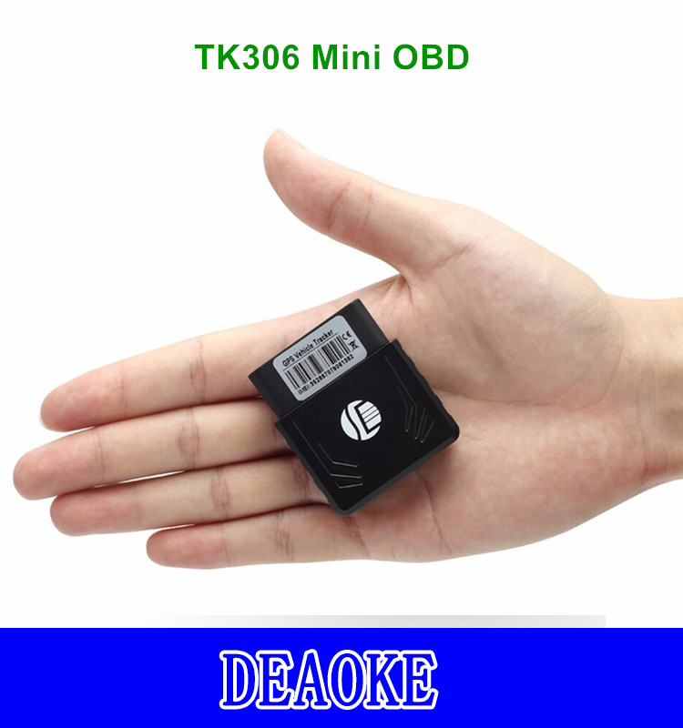 DEAOKE OBD gps tracker without OBD diagnose function TK306 mini OBD gps tracker with Vibration Alarm Featured Image
