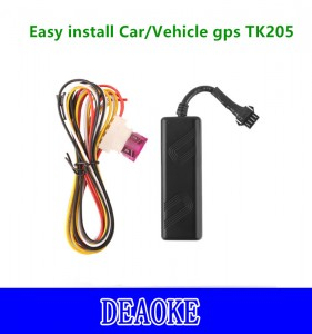 Promotion Car/Vehicle/Motorcycle gps tracker with ACC/Cut off engine function TK205 Mini gps tracker