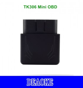 DEAOKE OBD gps tracker without OBD diagnose function TK306 mini OBD gps tracker with Vibration Alarm