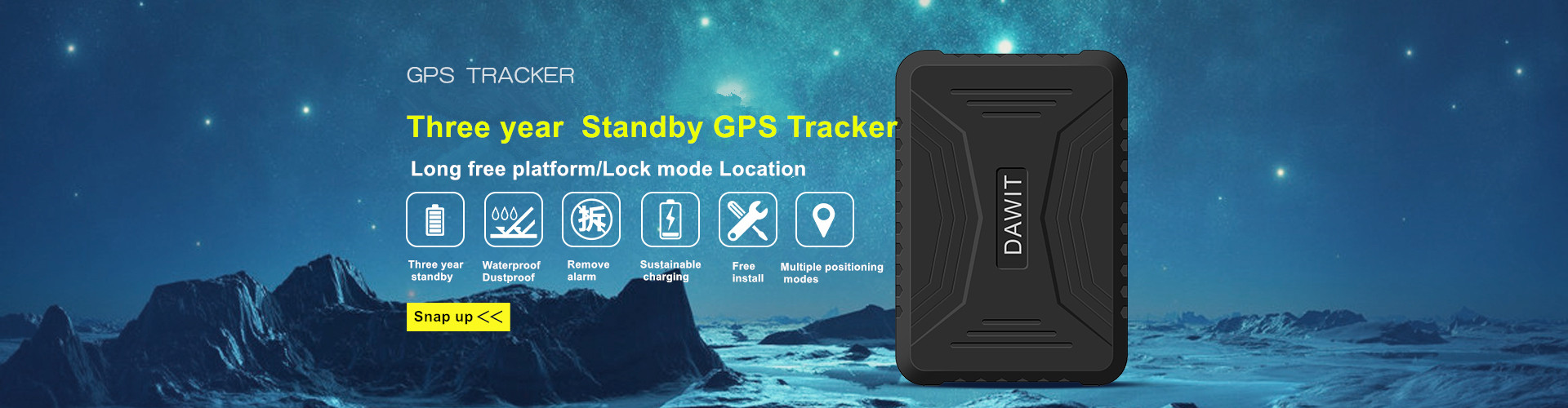 Three year standby gps tracker TK800