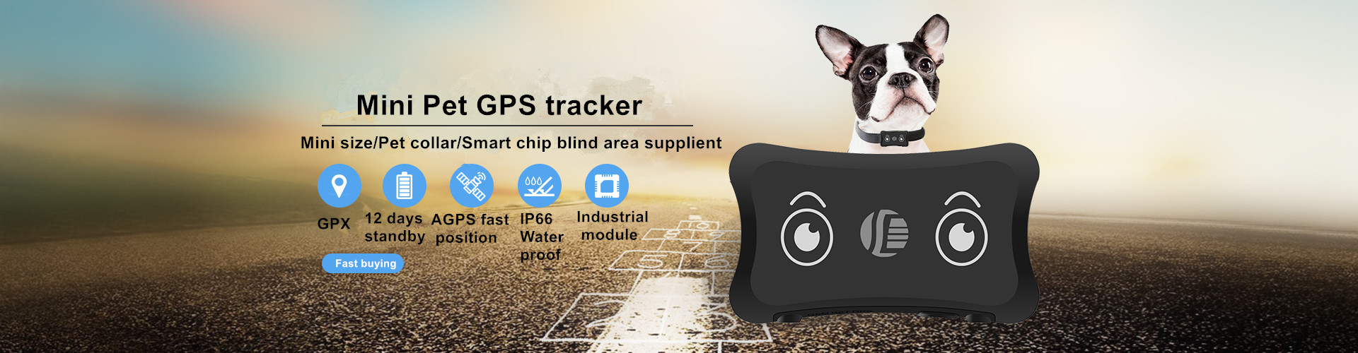 Mini GPS pet rastreador